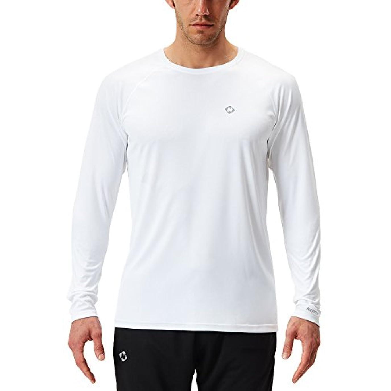 ローブ進化バブルスポーツシャツ 長袖 メンズ [UVカット?吸汗速乾] 冷感 ドライ ロングスリーブTシャツ 登山 トレーニング アウトドア ウェア