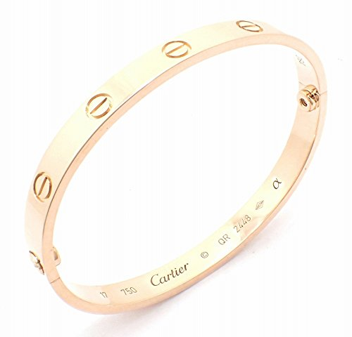 [カルティエ] Cartier ラブブレス LOVE #17 K18 PG ピンクゴールド ブレスレット バングル ドライバー付き B6035617