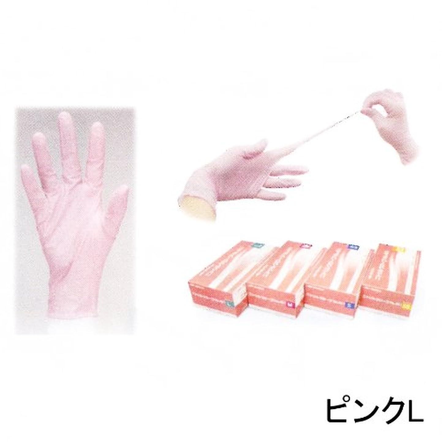 ジョージバーナード中毒結び目ニトリルグローブ(左右兼用200枚入) ピンクL