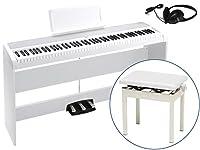 【高低自在椅子 PC-300 WH + ヘッドホン KH-60M セット】 KORG/コルグ 電子ピアノ B1 SP WH