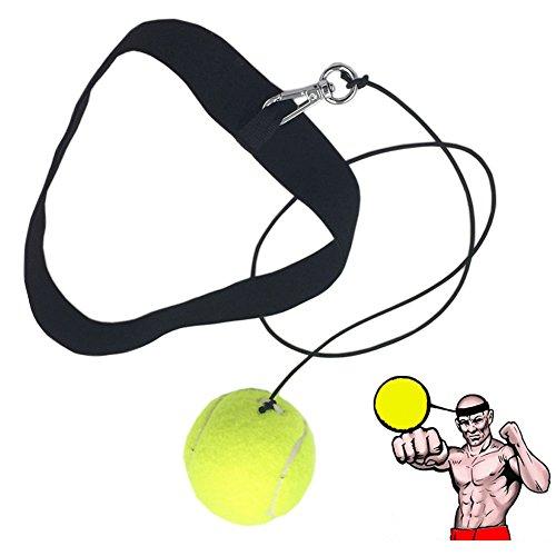 Ueasy ボクシングパンチングボール 打撃練習 反射神経・動体視力・迅速な対応能力など鍛え ボクシング、ストライク、フリー戦闘、野球に最適  (イエロー)