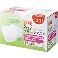 YAMAZEN 2PLYプリーツマスク YFM2-100 1箱(100枚) ×10セット