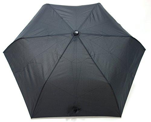 <ベーシック 折畳み自動開閉傘> ワンタッチで開閉  簡単折り畳み (黒)