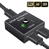 Techole HDMI 切替器 分配器 双方向 hdmiセレクター 4K 3D 1080P対応 1入力2出力 2入力1出力 手動切替 PS3 PS4 Nintendo Switch Xbox HDTV DVDプレーヤーなど対応