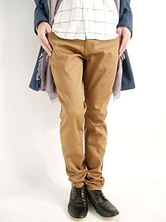 (モノマート) MONO-MART 裏起毛 ボンディングパンツ スキニー チノパンツ ストレッチ 暖かい パンツ カラー メンズ キャメル Lサイズ
