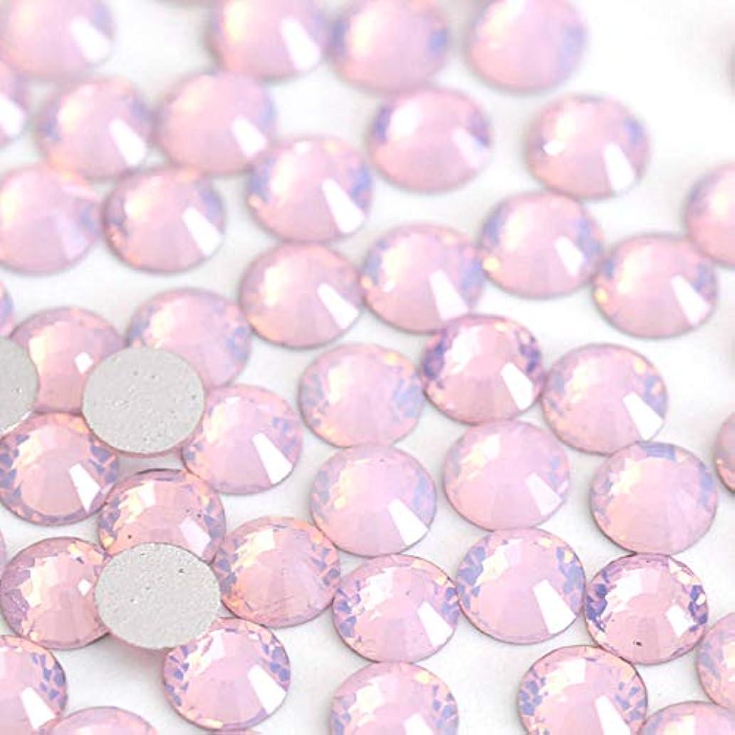 それぞれ定義最大の【ラインストーン77】 ガラス製ラインストーン ピンクオパール 各サイズ選択可能 スワロフスキー同等 (SS30 約45粒)