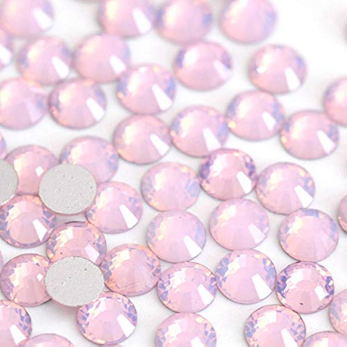【ラインストーン77】 ガラス製ラインストーン ピンクオパール 各サイズ選択可能 スワロフスキー同等 (SS30 約45粒)