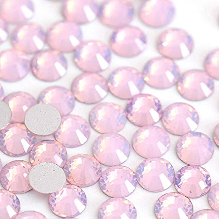 【ラインストーン77】 ガラス製ラインストーン ピンクオパール 各サイズ選択可能 スワロフスキー同等 (SS12 約200粒)