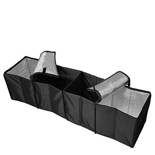 Teyimo カー 用品 車用収納ボックス トランク 大容量折り畳み式 4ボックス 保冷 フタ付き 保冷ボックス 収納BOX 軽自動車 車 車用 収納 ボックス 折り畳み 保冷機能 アウトドア ブラック