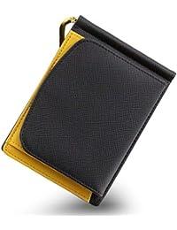 Kohdou マネークリップ 小銭入れ付き 本革 財布 二つ折り 薄い メンズ