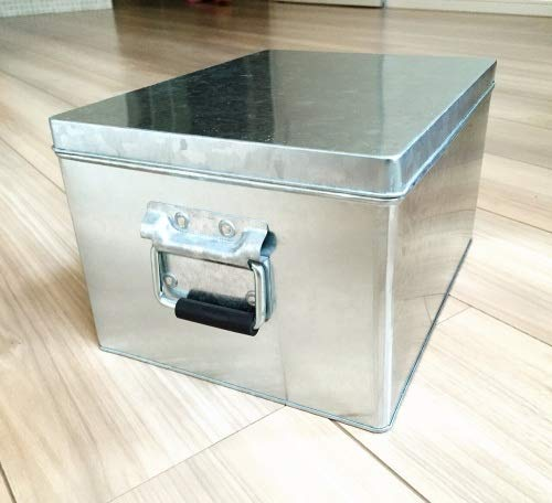 無印良品 トタンボックス・フタ式・小 約幅20×奥行26×高さ15cm 日本...