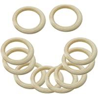 SONONIA DIY素材 木製 リング ネックレス作り ブレスレット 工芸品 装飾品 35/65mm選択可 - ナチュラル(20個入り), 35mm