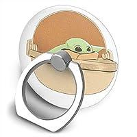 CJ_ring IPhone IPad IPod Galaxy Xperia リング Baby Yoda ベビー ヨーダ スマートフォン スマホ タブレット 落下防止 スタンド機能 360°回転 ホールドリング