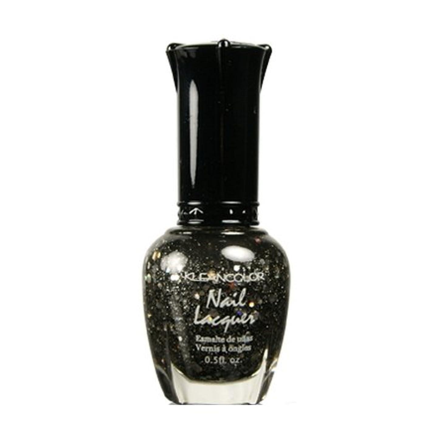 弱点きちんとしたカヌー(3 Pack) KLEANCOLOR Nail Lacquer 4 - Black Out (並行輸入品)
