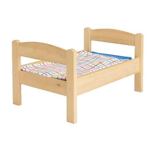 IKEA(イケア) DUKTIG 人形用ベッド ベッドリネンセット付き, パイン材, マルチカラー (20167838) 2個セット