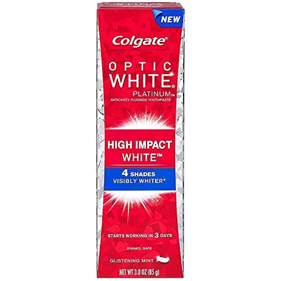 延期する森林刺繍2個セット Colgate コルゲート オプティックホワイト ハイインパクト 85g