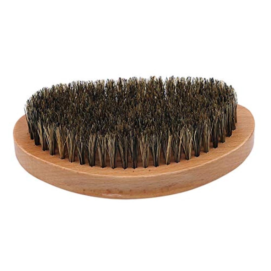 お客様色合い照らすKLUMA ひげブラシ シェービングブラシ 髭剃り 毛髭ブラシ 泡立ち 理容 美容ツール 旅行用 1#