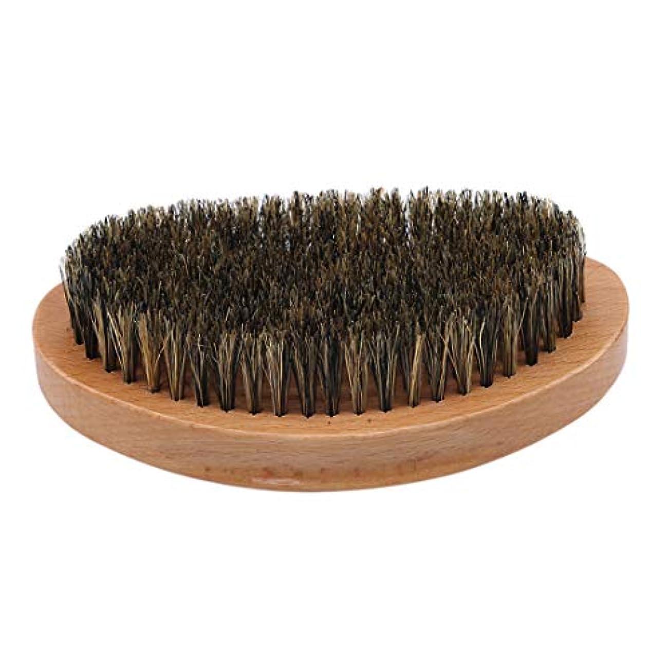 ルーチン争い消費するKLUMA ひげブラシ シェービングブラシ 髭剃り 毛髭ブラシ 泡立ち 理容 美容ツール 旅行用 1#