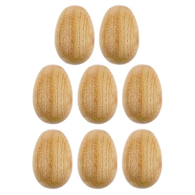 KESOTO おもちゃシェーカー 木製卵シェーカー 手作りシェーカー 早期教育楽器 質感 実用性 8個セット