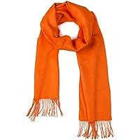 100% Pure Baby Alpaca Scarf - Bright Happy Solid Colors (Tangerine)