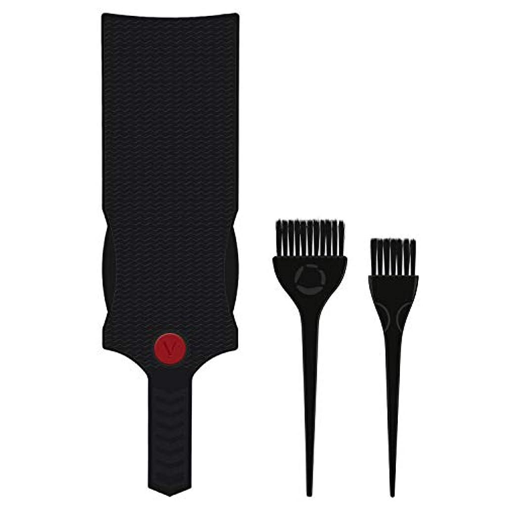 従事した近々流行Segbeauty ヘアカラーセット 2本のブラシと1本のボード 髪染め用のブラシとボード プロ用 美髪師用 プラスチック製 無害無毒