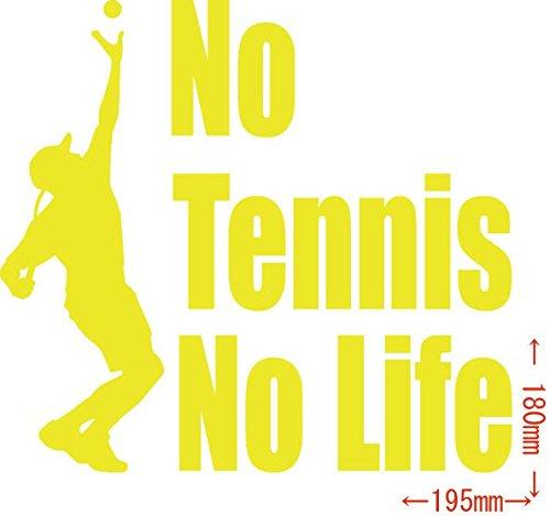 ノーブランド品 カッティングステッカー No Tennis No Life (テニス)・3 約180...