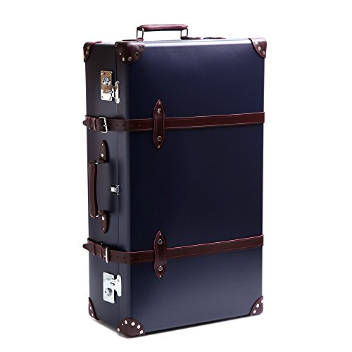 (グローブトロッター)GLOBE TROTTER スーツケース CENTENARY センテナリー 33インチ2輪エクストラディープトローリー GTCNT NBU33TC/NAVY*URUSHI BURGUNDY [並行輸入品]