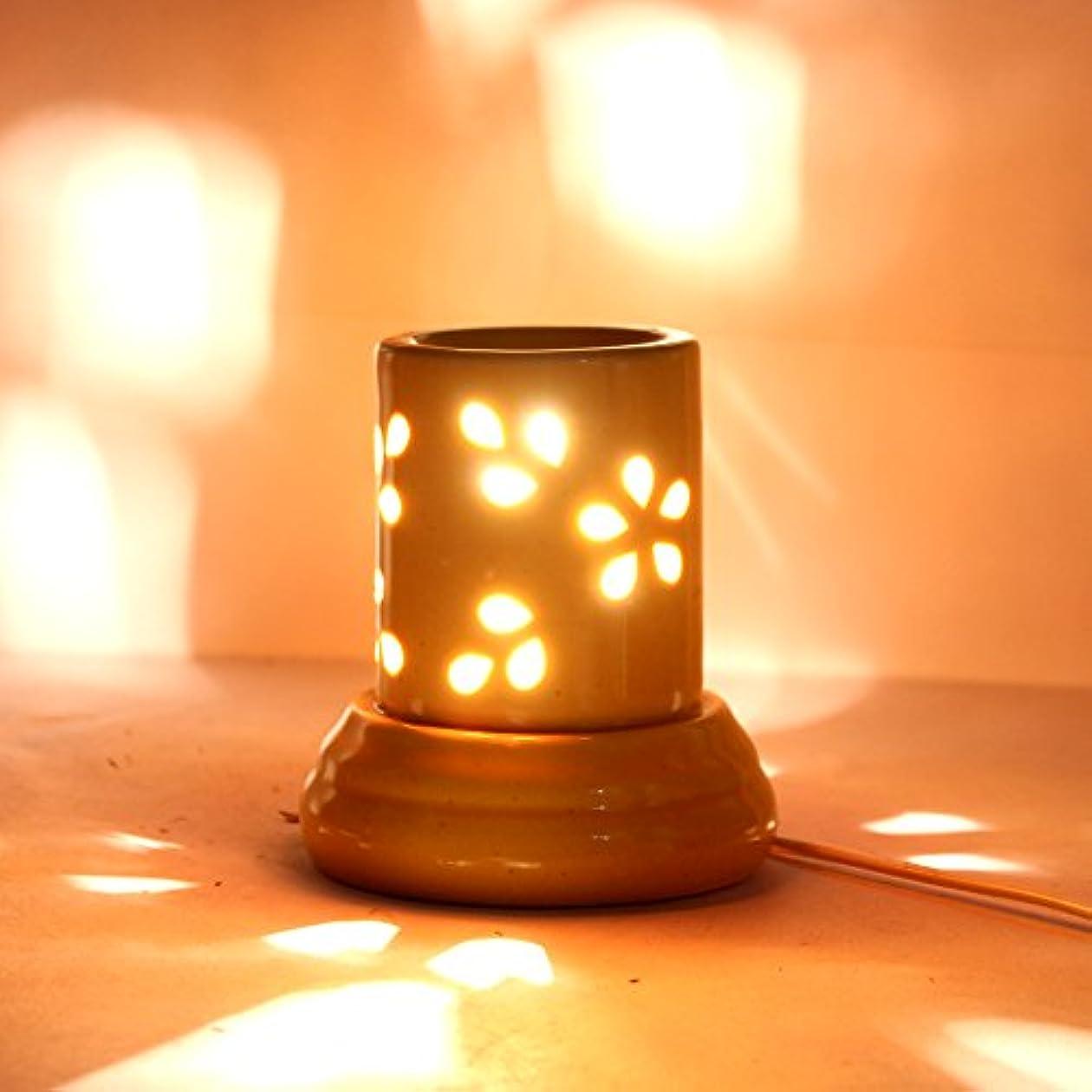 ノミネート報酬乳インドホームインテリア定期的な使用法汚染フリーハンドメイドセラミック粘土電気アロマオイルバーナー&ティーライトランプ/良質ホワイトカラー電気アロマオイルバーナーまたはアロマオイルディフューザー数量1