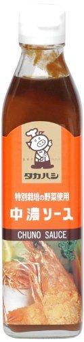 高橋ソース 特別栽培の野菜使用 中濃ソース 300ml ×4セット