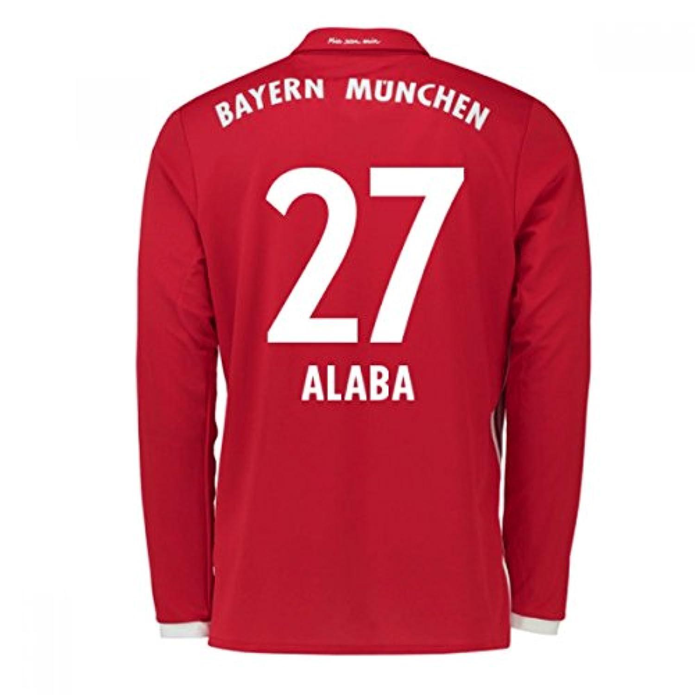 2016-17 Bayern Munich Long Sleeve Home Shirt (Alaba 27)