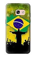 JP2981A37 ブラジルサッカー Brazil Football Soccer Map Flag Samsung Galaxy A3 (2017) ケース