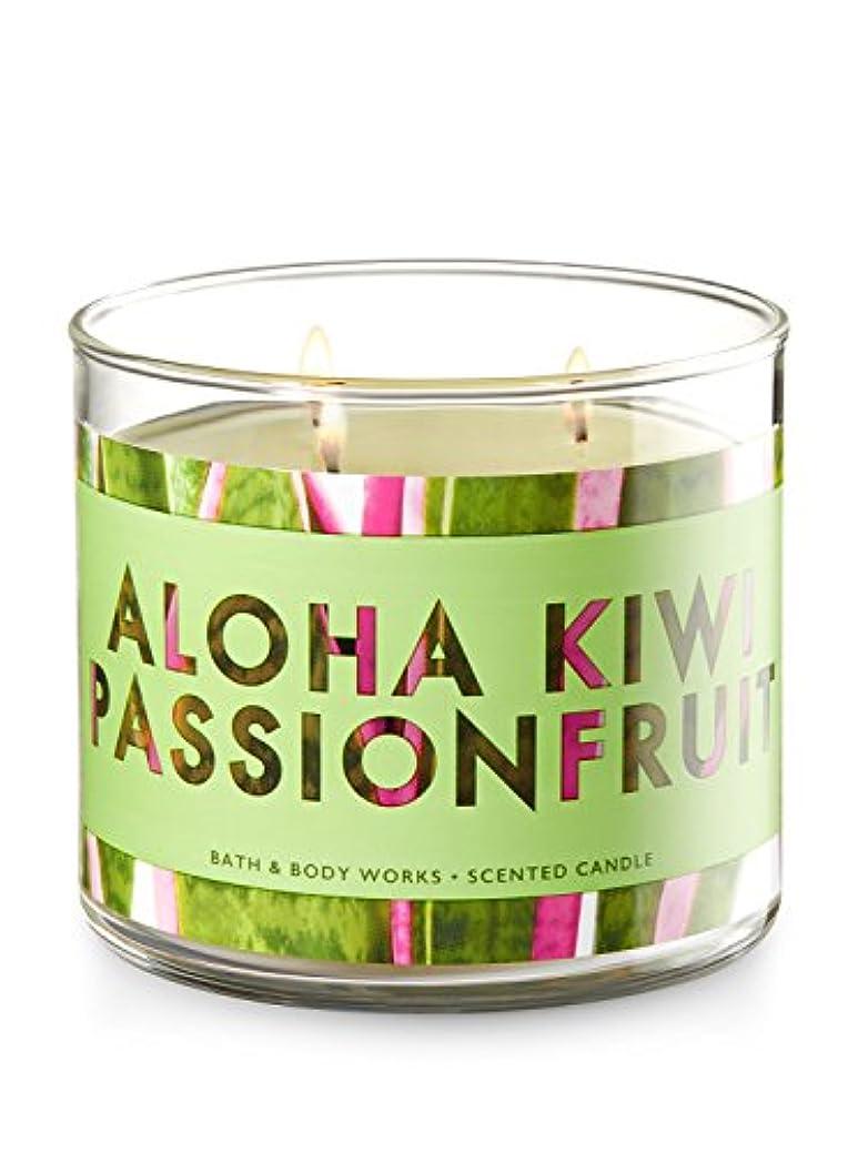 リードオッズ囲むBath and Body Works 3 Wick Scented Candle Aloha Kiwi Passionfruit 430ml