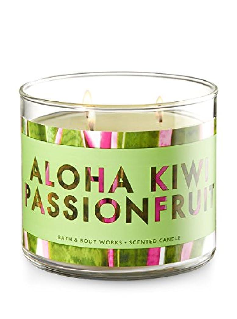 罰ワーカー深くBath and Body Works 3 Wick Scented Candle Aloha Kiwi Passionfruit 430ml