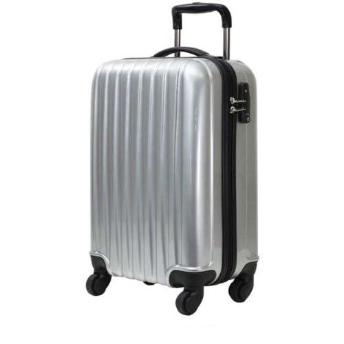 初心者さんにオススメのキャリーケース 61cm(4~5泊用) アルミシルバー ☆拡張機能付き 軽量のファスナー開閉式キャリーバッグ