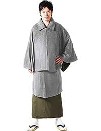 [キョウエツ] 和装コート 着物コート トンビコート インバネス ウール混生地 メンズ