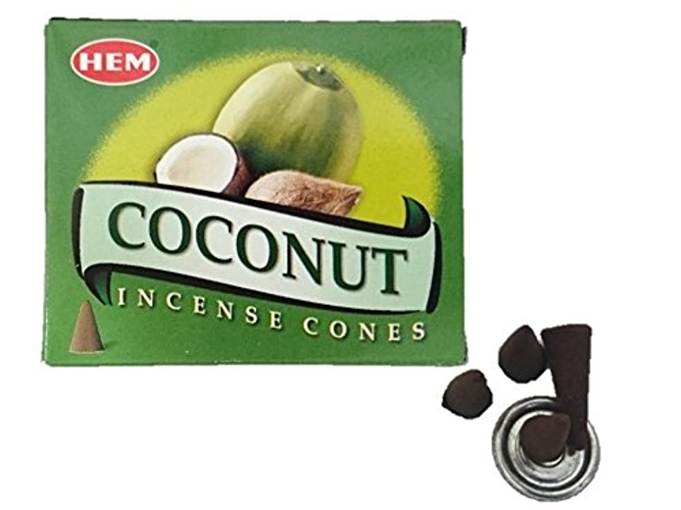 刻むスピリチュアル特定のHEM(ヘム)お香 ココナッツ コーン 1箱