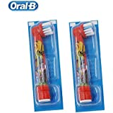 Children Electric Toothbrush Oral B Cars Tooth Brush D10 Replaceable 2 Brush Heads EB10 Music Timer for Children...