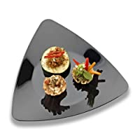 EMI Yoshi Koyal三角形サラダプレート、ブラック、のセット120