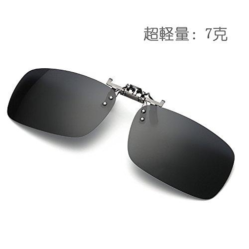 [해외]클립 온 선글라스 초경량 야외 활동 용 클립 온 근시를 위해와 편광 선글라스 플립있는/Clip-on sunglasses super lightweight outdoor activity clip-on for myopia and polarized sunglasses bouncing formula