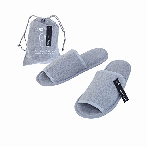 TraveLeap(トラベリープ) 携帯スリッパ 折り畳み 男女兼用 収納ポーチ セット (男女兼用 グレー)