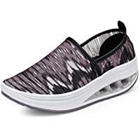 Unparalleled beauty Women's Slip On Walking Shoes Women Fashion Sneakers Comfortable Mesh Wedge Platform Loafers