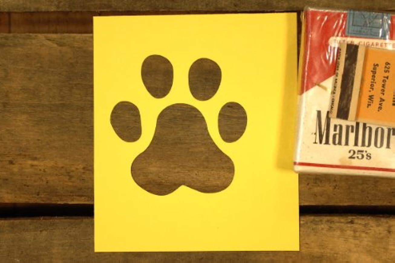 郵便番号ストリームモンゴメリー紙製 ステンシル 型紙 ワン シート 犬の肉球 ワンコ 【3インチ】