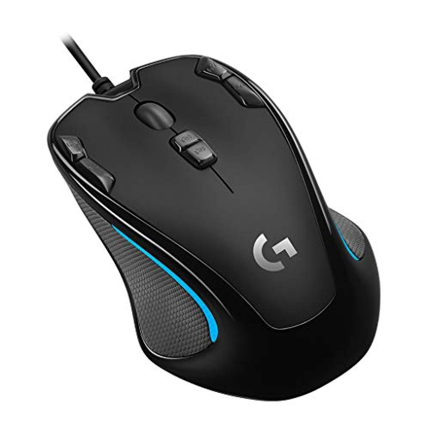 キャッシュ眉をひそめるグローブLogicool G ゲーミングマウス G300Sr ブラック usb 有線 82g 軽量 ゲームマウス 左右対称 多ボタン G300 国内正規品 2年間メーカー保証