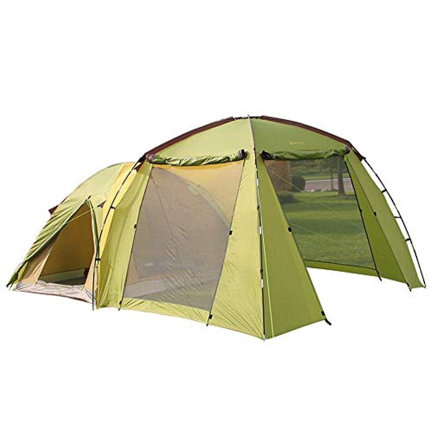空中説得力のある寸前KYAWJY 屋外のキャンプハイキングテント二重層多人数5-6人のテント