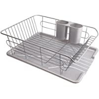 パール金属 食器 水切り かご 水が流れる トレー付 アルデオ H-5687