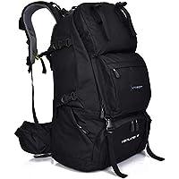 登山リュック ブラック リュックザック アウトドア 通学 60L 大容量 レインカバー付き 防水 丈夫 バックパック バッグ 2色