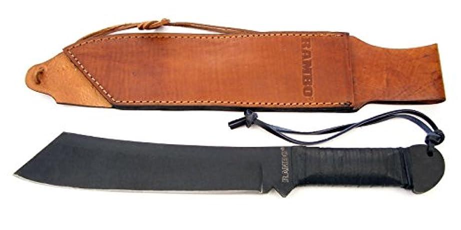 音楽家一貫したパケットマスターカット MASTERCUTLERY MC-RB4 ランボーIV 全長:45cm、レザーシース付、1095カーボン
