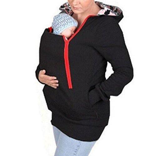 馬歇爾Marshel婦產袋鼠帕克[嬰兒舒服]帶帽分娩前後可用於長孕婦裝所有5種顏色的所有三個尺寸