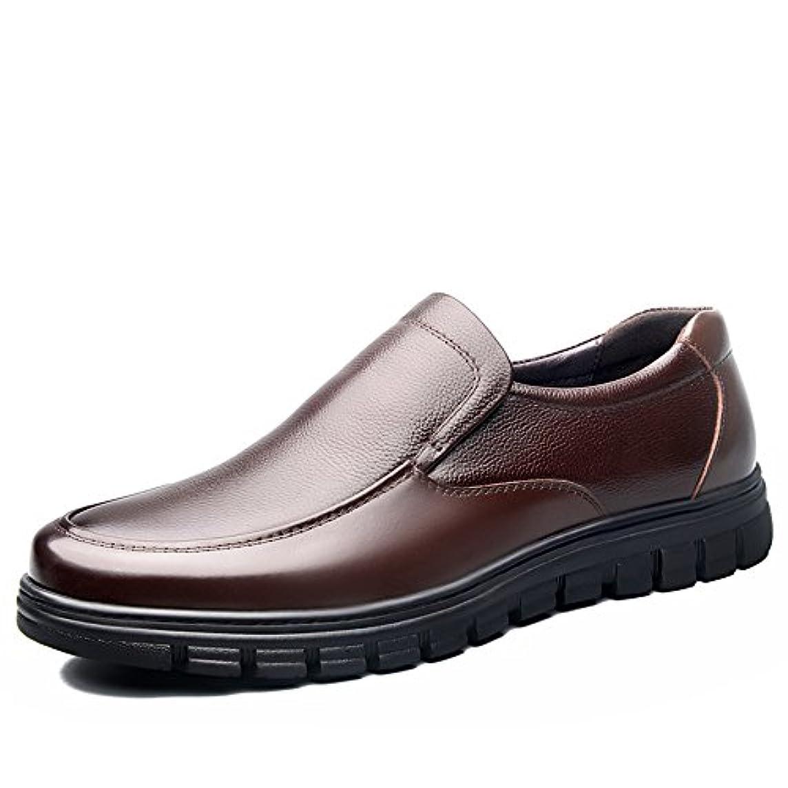 ディスコ合わせて前兆TIOSEBON 革靴 メンズ ビジネスシューズ 本革 スリッポン ローファー カジュアルシューズ 幅広 ドライビングシューズ ウォーキングシューズ 防水 通勤 黒/ブラウン