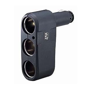 カーメイト(CARMATE) 増設ソケット ダイレクト3連ソケット ブラック CZ259